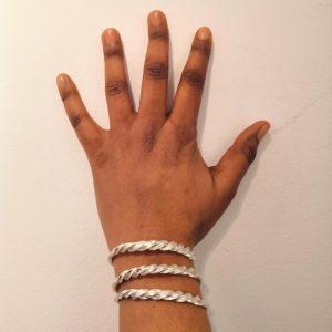 Bracelet en bronze recyclé, ou laiton